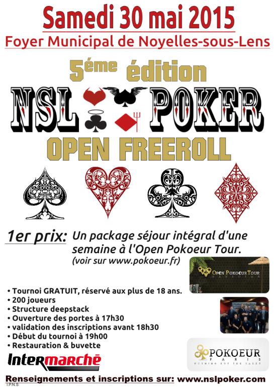 5ème édition du Nsl-Poker Open Freeroll le samedi 30 mai 2015 à 19h00.  Tournoi2013-page001